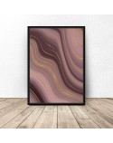 Art Deco poster Pink Waves