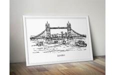 "Plakat z Mostem Londyńskim ""London Bridge"""