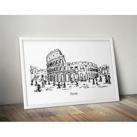 Plakat z Koloseum w Rzymie