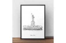 Plakat ze Statuą Wolności w Nowym Jorku