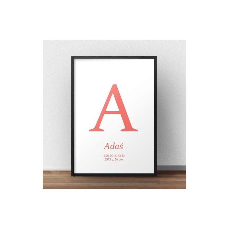 Poster metric for a child - Capital letter