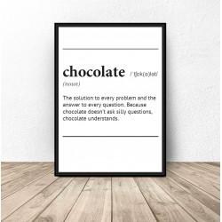 """Plakat z napisem definicji słowa """"Chocolate"""""""