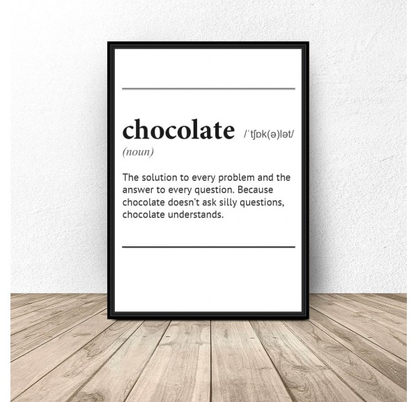 Poster with the word definition Chocolate