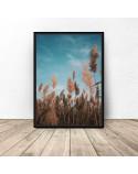 Plakat fotograficzny Trawa pod niebiem 2