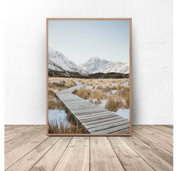 Plakat dekoracyjny Pomost w górach