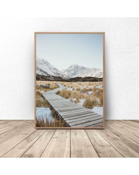 """Plakat dekoracyjny """"Pomost w górach"""""""