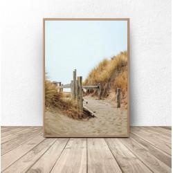 """Plakat dekoracyjny """"Zejście do morza"""""""