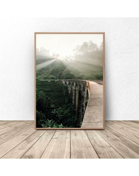 "Plakat ""Wschód nad Nine Arch Bridge"""