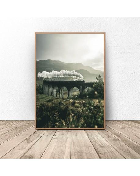 "Plakat ""Pociąg na Nine Arch Bridge"""