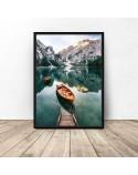 Plakat krajobraz Górska łódka 50x70 wyprzedaż 2