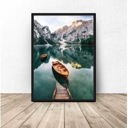 """Plakat krajobraz """"Górska łódka"""" 50x70 wyprzedaż"""