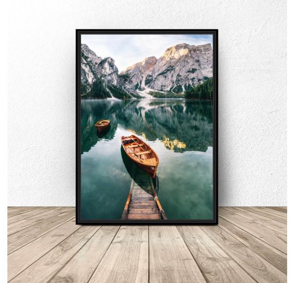 Plakat krajobraz Górska łódka 50x70 wyprzedaż