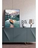 Plakat krajobraz Górska łódka 50x70 wyprzedaż 3
