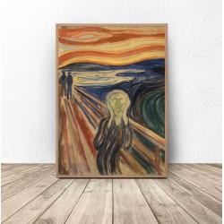 """Plakat reprodukcja """"Krzyk"""" Edvard Munch 61x91 wyprzedaż"""