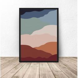 """Plakat abstrakcyjny """"Gorące piaski"""" 61x91 wyprzedaż"""