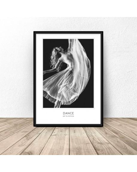 """Plakat z tancerką """"Dance Art of Motion"""" 61x91 wyprzedaż"""