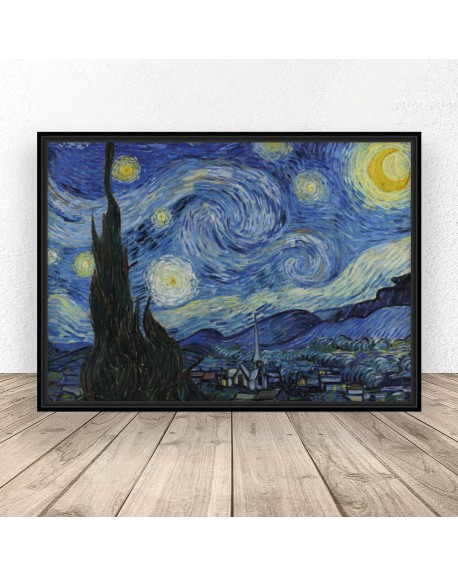 "Plakat reprodukcja ""Gwieździsta noc"" Vincent van Gogh 61x91 wyprzedaż"
