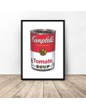 Plakat Puszka z zupą firmy Campbell Warhol 2