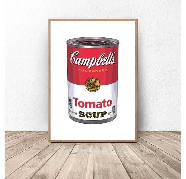 Plakat Puszka z zupą firmy Campbell Warhol