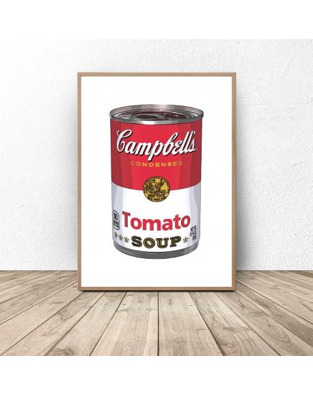 """Plakat """"Puszka z zupą firmy Campbell"""" Warhol"""