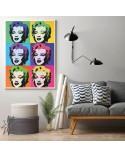Kolorowy plakat Marilyn Monroe Warhol