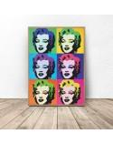 Kolorowy plakat Marilyn Monroe Warhol 2
