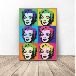 """Kolorowy plakat """"Marilyn Monroe"""" Warhol"""