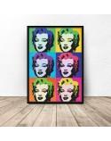 Kolorowy plakat Marilyn Monroe Warhol 3