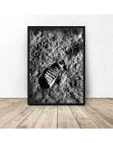 Plakat NASA Odcisk buta na księżycu