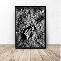 "Plakat NASA ""Odcisk buta na księżycu"""