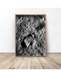 Plakat NASA Odcisk buta na księżycu 2