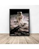 Plakat NASA Człowiek na Księżycu