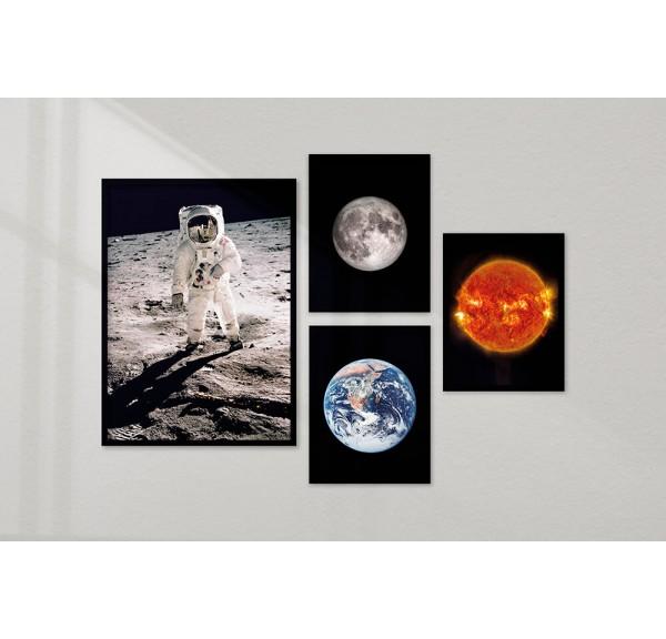 Galeria 4 plakatów Zestaw kosmiczny