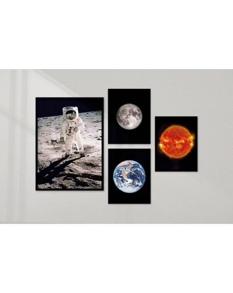 """Galeria 4 plakatów """"Zestaw kosmiczny"""""""