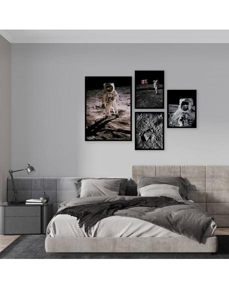 """Zestaw 4 plakatów """"Apollo 11"""""""