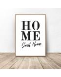 Minimalistyczny plakat z napisem Sweet home