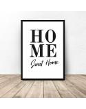 Minimalistyczny plakat z napisem Sweet home 2