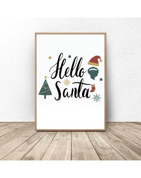"""Darmowy plakat """"Hello Santa"""""""