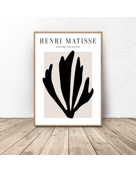 "Plakat ""Black Leaf"" Henri Matisse"