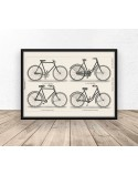 Poziomy plakat z rowerami w stylu retro 3