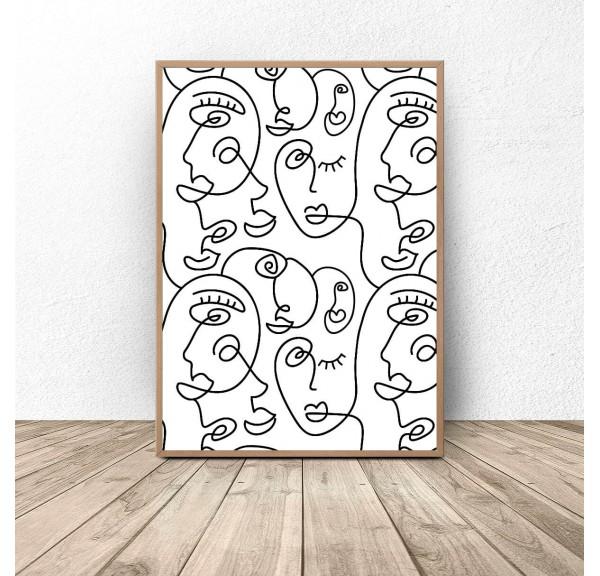 Plakat stylizowany Postacie Picasso