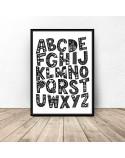 Plakat dla dzieci Wzorzysty alfabet 2
