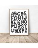 Plakat dla dzieci Wzorzysty alfabet 3