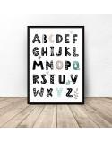 Plakat z alfabetem Miętowe literki 2