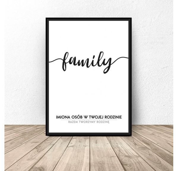 Plakat personalizowany Family