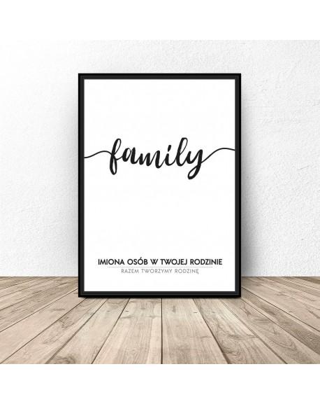 """Plakat personalizowany """"Family"""""""