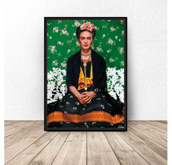 Kolorowy plakat Frida Kahlo