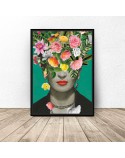 Plakat Frida Kahlo w kwiatach