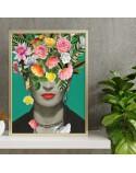 Plakat Frida Kahlo w kwiatach 2