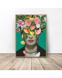 Plakat Frida Kahlo w kwiatach 3